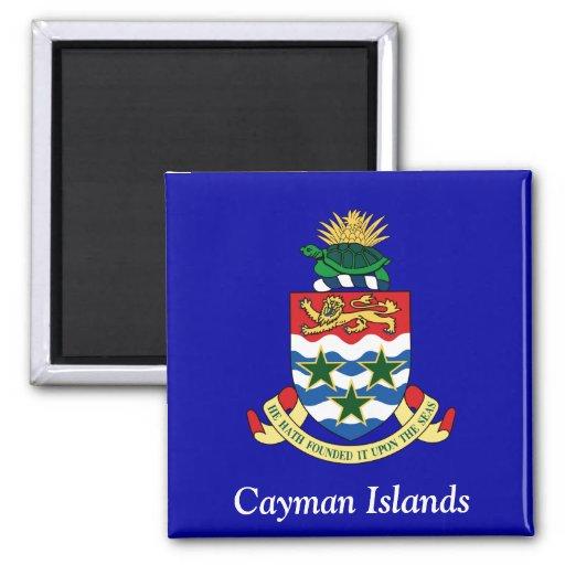 Escudo de armas de las Islas Caimán Imán Cuadrado