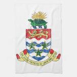 Escudo de armas de las Islas Caimán Toalla De Cocina