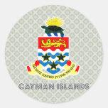 Escudo de armas de las Islas Caimán Pegatina Redonda