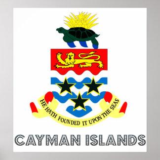 Escudo de armas de las Islas Caimán Póster