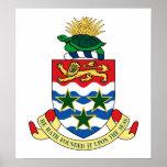 Escudo de armas de las Islas Caimán Posters