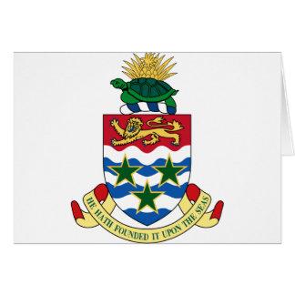 Escudo de armas de las Islas Caimán Felicitación