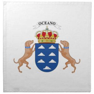Escudo de armas de las islas Canarias (España) Servilleta De Papel