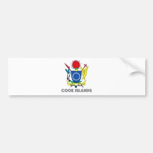 Escudo de armas de las islas de cocinero pegatina de parachoque