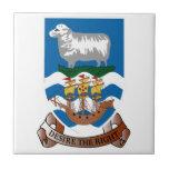 Escudo de armas de las islas de Malvinas Azulejo Cuadrado Pequeño