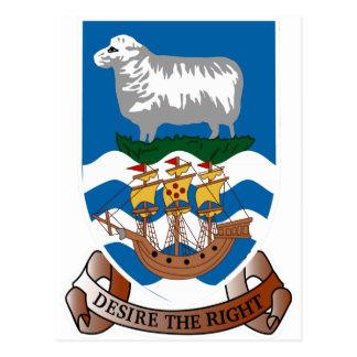 Escudo de armas de las islas de Malvinas Postales