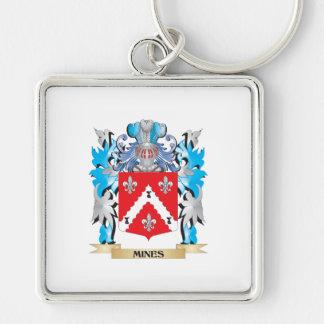 Escudo de armas de las minas - escudo de la llaveros