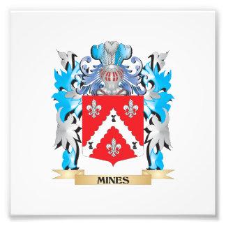 Escudo de armas de las minas - escudo de la impresion fotografica