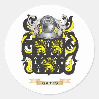 Escudo de armas de las puertas (escudo de la pegatina redonda