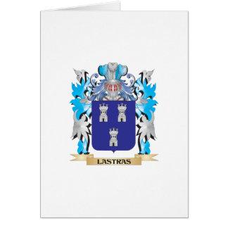 Escudo de armas de Lastras - escudo de la familia Tarjeta De Felicitación