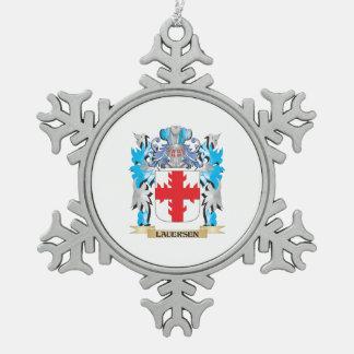 Escudo de armas de Lauersen - escudo de la familia Adorno De Peltre En Forma De Copo De Nieve