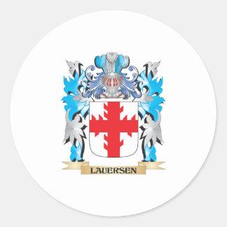 Escudo de armas de Lauersen - escudo de la familia Pegatina Redonda