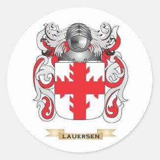 Escudo de armas de Lauersen (escudo de la familia) Pegatina Redonda
