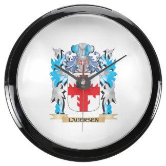 Escudo de armas de Lauersen - escudo de la familia Reloj Aqua Clock