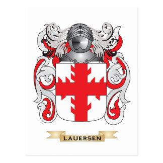 Escudo de armas de Lauersen escudo de la familia Tarjeta Postal