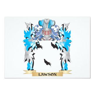 """Escudo de armas de Lawson - escudo de la familia Invitación 5"""" X 7"""""""