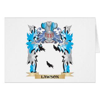 Escudo de armas de Lawson - escudo de la familia Tarjeta Pequeña