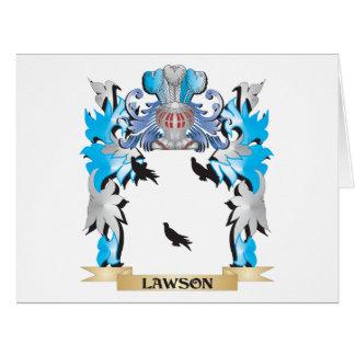 Escudo de armas de Lawson - escudo de la familia Tarjeta De Felicitación Grande