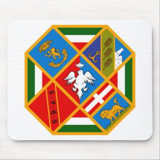 Escudo de armas de Lazio Italia Alfombrillas De Raton