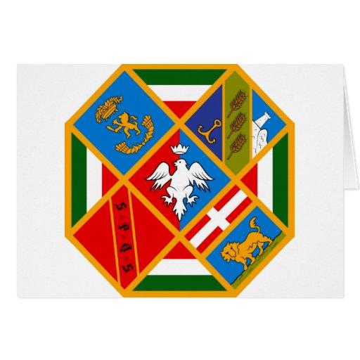 Escudo de armas de Lazio (Italia) Tarjeta De Felicitación