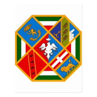 Escudo de armas de Lazio (Italia) Tarjetas Postales
