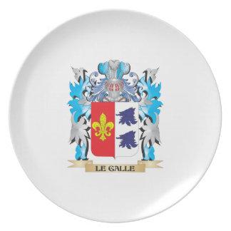 Escudo de armas de Le-Galle - escudo de la familia Plato Para Fiesta