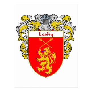 Escudo de armas de Leahy (cubierto) Postales