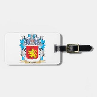 Escudo de armas de Leahy - escudo de la familia Etiquetas De Equipaje