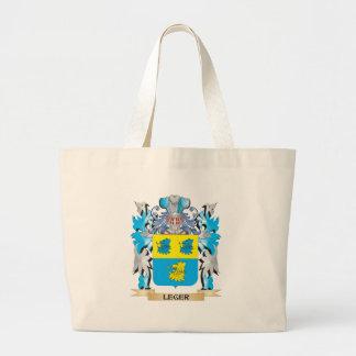 Escudo de armas de Leger - escudo de la familia Bolsas