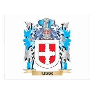 Escudo de armas de Legg - escudo de la familia Tarjeta Postal