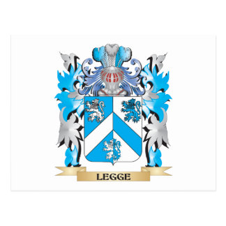 Escudo de armas de Legge- - escudo de la familia Tarjetas Postales