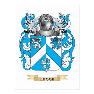 Escudo de armas de Legge- (Inglaterra) (escudo de Tarjeta Postal