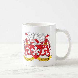 Escudo de armas de Leicester Tazas De Café