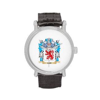 Escudo de armas de Leo - escudo de la familia Reloj
