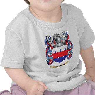 Escudo de armas de Leonard escudo de la familia Camisetas