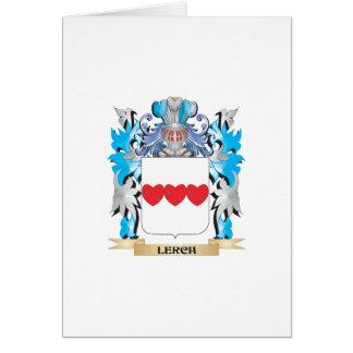 Escudo de armas de Lerch - escudo de la familia Tarjeta De Felicitación