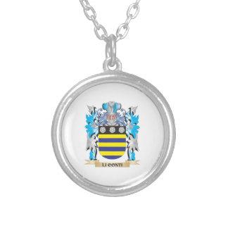 Escudo de armas de Li-Conti - escudo de la familia Pendiente Personalizado