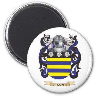 Escudo de armas de Li-Conti escudo de la familia Iman