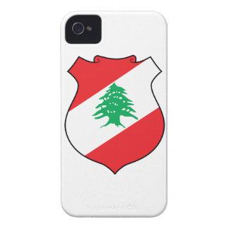 Escudo de armas de Líbano iPhone 4 Case-Mate Coberturas