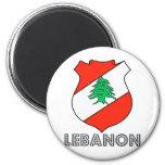 Escudo de armas de Líbano Imán De Nevera