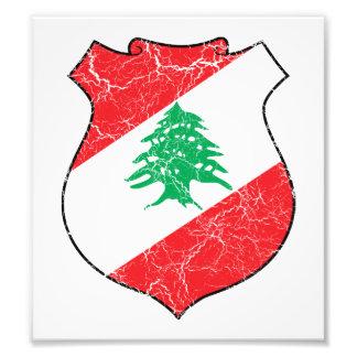 Escudo de armas de Líbano Impresión Fotográfica