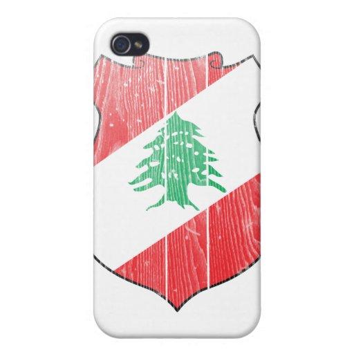 Escudo de armas de Líbano iPhone 4 Carcasa