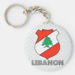 Escudo de armas de Líbano Llaveros
