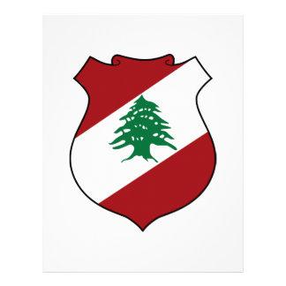 Escudo de armas de Líbano Membrete A Diseño