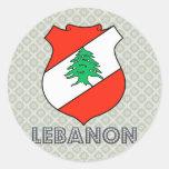Escudo de armas de Líbano Pegatina Redonda