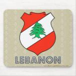 Escudo de armas de Líbano Tapete De Raton