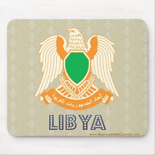 Escudo de armas de Libia Alfombrillas De Raton