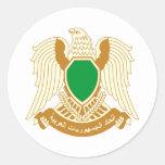Escudo de armas de Libia Pegatina Redonda