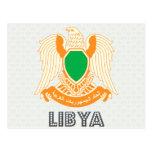 Escudo de armas de Libia Postales