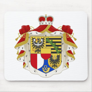 Escudo de armas de Liechtenstein Alfombrillas De Raton